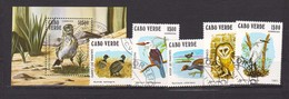 1981 Fauna - Birds ,Oiseau ,Vogel 5v.+S/S Used/oblitere (O) CABO VERDE - Cap Vert