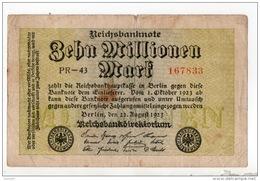 ALLEMAGNE . 10 MILLIONEN MARK . N° 167833 - Réf. N°10753 - - [ 3] 1918-1933: Weimarrepubliek