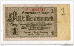 ALLEMAGNE . 1 EINE RENTENMARK . N° F 10557517 - Réf. N°10752 - - [ 3] 1918-1933 : República De Weimar