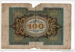 ALLEMAGNE . REICHSBANKNOTE 100 HUNDERT MARK - Réf. N°10750 - - [ 3] 1918-1933 : Repubblica  Di Weimar