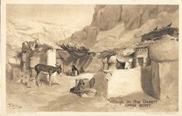 Egypte - Village In The Desert Upper Egypt - Wide-World Series - Tuck's Post Card Non Circulée - Egypte
