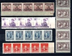 CHINA-  LOT 10  BANDES  DIFFÉRENTES- 47 TIMBRES DENTELÉS NEUFS-  2 SCANS - Unused Stamps