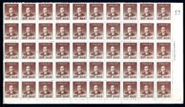 CHINA-  FEUILLET NEUF**  50  TIMBRES DENTELÉS   N° 725- BORDURE AVEC MARQUE ET FILET - Unused Stamps