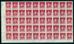 CHINA-  FEUILLET NEUF**   50 TIMBRES DENTELÉS   N° 722- BORDURE AVEC MARQUE ET FILET- - 1949 - ... République Populaire