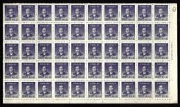 CHINA-  FEUILLET NEUF**  50  TIMBRES DENTELÉS   N° 729- BORDURE AVEC MARQUE- - 1949 - ... République Populaire