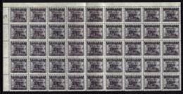 CHINA-  FEUILLET NEUF**  45  TIMBRES FISCAUX DENTELÉS  SURCHARGE 500-  N° 768- BORDURE ET COIN - 1949 - ... République Populaire