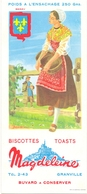 Vloeipapier Buvard Biscottes Toats Magdeleine - Granville - Illustr Jean Brun - Berry - Cake & Candy