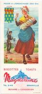 Vloeipapier Buvard Biscottes Toats Magdeleine - Granville - Illustr Jean Brun - Artois - Sucreries & Gâteaux