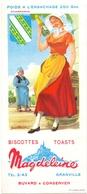 Vloeipapier Buvard Biscottes Toats Magdeleine - Granville - Illustr Jean Brun - Champagne - Sucreries & Gâteaux