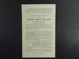 Marie Debroeck épse Devoghel Hal 1901 1960 /06/ - Images Religieuses