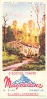 Vloeipapier Buvard Biscottes Toats Magdeleine - Granville - Landschap - Paysage - Sucreries & Gâteaux