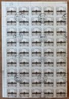 CHINA- FEUILLET   45 TIMBRES  DENTELÉS OBLITÉRÉS  N° 1191- BORDURE  AVEC FILET - Gebraucht