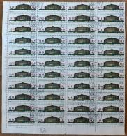 CHINA- FEUILLET   44 TIMBRES  DENTELÉS OBLITÉRÉS  N° 1352- BORDURE  AVEC MARQUE ET NUMERO - Gebraucht