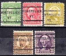 USA Precancel Vorausentwertung Preo, Locals Vermont, Montpelier 232, 5 Diff. Perf. 11x10 1/2 - Etats-Unis