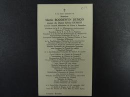 Martin Boddewyn Dumon épx Dumon Consul Général Honoraire De Grèce à Bruxelles St-Gilles 1888 Bruges 1963 /014/ - Images Religieuses