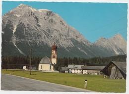 Leutasch, Kirchplatzl Gegen Hohe Munde, 2662 M, Tirol, Austria, 1983 Used Postcard [21798] - Leutasch