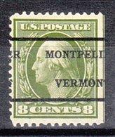 USA Precancel Vorausentwertung Preo, Locals Vermont, Montpelier L-2 TS, Classic Catalog 4 $ - Etats-Unis