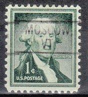 USA Precancel Vorausentwertung Preo, Locals Vermont, Moscow 802 - Vorausentwertungen