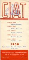 Brochure Dépliant - Horaire Timetable Orario - Autobus CIAT - Roma - Nastra Azzurro - Rosa - 1950 - Europa