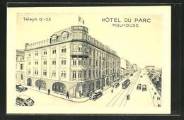 CPA Mulhouse, Vue De Hotel Du Parc - Mulhouse