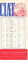 Brochure Dépliant - Horaire Timetable Orario - Autobus CIAT - Roma - La Route De La Méditérranée - 1949 - Europa
