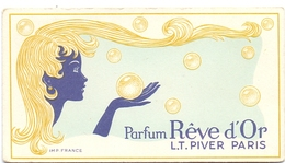 Parfum Kaartje - Parfum Reve D'Or - LT Piver Paris - Perfume Cards