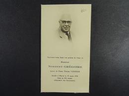 Norbert Grégoire épx Vanham Havré 1958 /021/ - Images Religieuses