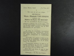 Maria Van Haute Vve De Bisschop Hamme 1862 Kobbegem 1939 /023/ - Images Religieuses