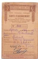 Carte D'abonnement Aux émissions  De Timbre De Postes - Touchard Dunkerque 1949 - Tickets D'entrée