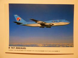 AIRLINE ISSUE / CARTE COMPAGNIE      KOREAN AIR  B 747 300 SUD - 1946-....: Ere Moderne
