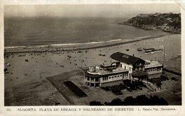 ALGORTA. VIZCAYA. PAÍS VASCO. BALNEARIO IGERETXE Y PLAYA DE EREAGA L ROISIN - Vizcaya (Bilbao)