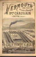 PUB 1891 - Vermouth Vins Fins D. Chauvain Cette (Hérault) J.B. Espert Bordeaux; Maison Des Sœurs Macarons Nancy 54 - Publicités