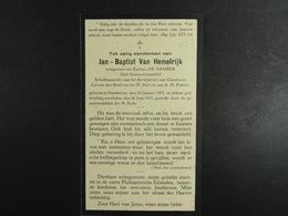 Jan-Baptist Van Hemelrijk épx De Samber Ganshoren 1871 1947 /027/ - Images Religieuses