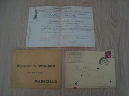 LOT ENVELOPPES + LETTRE A. WOLBER 1914 - Marcophilie (Lettres)