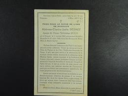 Alphonse Desmet épx Sillis Ooigem 1864 Bruxelles 1964 /031/ - Images Religieuses