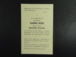 Joseph Petre Vf Devoghel Hal 1865 1951 /033/ - Images Religieuses