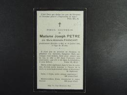 Marie Antoinette Francart épse Petre Hal 1941 /037/ - Images Religieuses