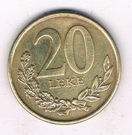20 LEKE 2012 ALBANIE /5647/ - Albania