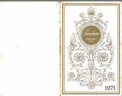 Calendrier 1971 Sandrine Cheramy Paris - Calendarios