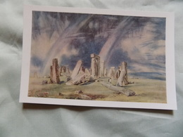 VINTAGE UK: WILTSHIRE STONEHENGE Art Card John Constable Colour - Inghilterra