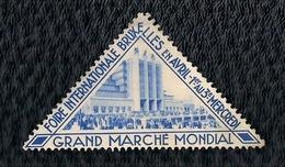 BELGIQUE - VIGNETTE - FOIRE  INTERNATIONALE DE BRUXELLES - GRAND MARCHÉ MONDIAL. - Postage Labels
