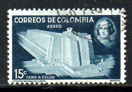 COLOMBIE. PA 285A Oblitéré De 1956. Phare De Colomb. - Kolumbien