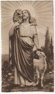 Santino D'epoca, Holy Card - Gesù, Buon Pastore - Andachtsbild, Image Pieusse (Vedi Fronte/retro). Fustellato, Seppia - Santini
