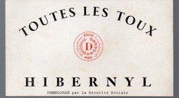Paris Rue Aubriot : Buvard HIBERNYL (pharmacie)  (PPP9186) - Chemist's