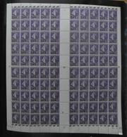 """FEUILLE De 100 TIMBRES """" SEMEUSE CAMÉE """" N° 218 NEUF ** (VOIR DOS) Avec COIN DATÉ 24-3-26 (1926) - Feuilles Complètes"""
