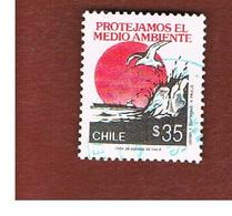 CILE (CHILE)  - SG 1310 -    1990   ENVIRONMENTAL PROTECTION                                 -     USED ° - Cile