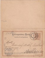 AUTRICHE 1898 ENTIER POSTAL CARTE REPONSE DE TORBOLE NEL TIROLO - Interi Postali