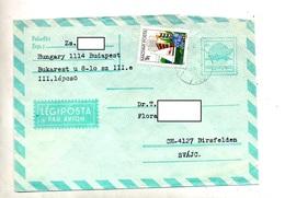 Lettre Entiere 8 Avion + Zanka Cachet - Postal Stationery