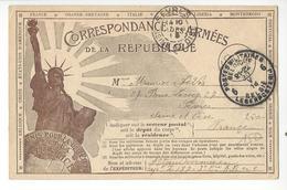 BELGIQUE FRANCE CARTE DE FRANCHISE MILITAIRE AVEC CACHET POSTES MILITAIRES  /FREE SHIP. R - Marcophilie (Lettres)
