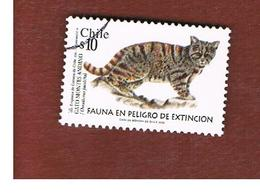 CILE (CHILE)  -   MI 2069   -    2002  ANIMALS: ANDEAN MOUNTAIN CAT    -     USED ° - Cile